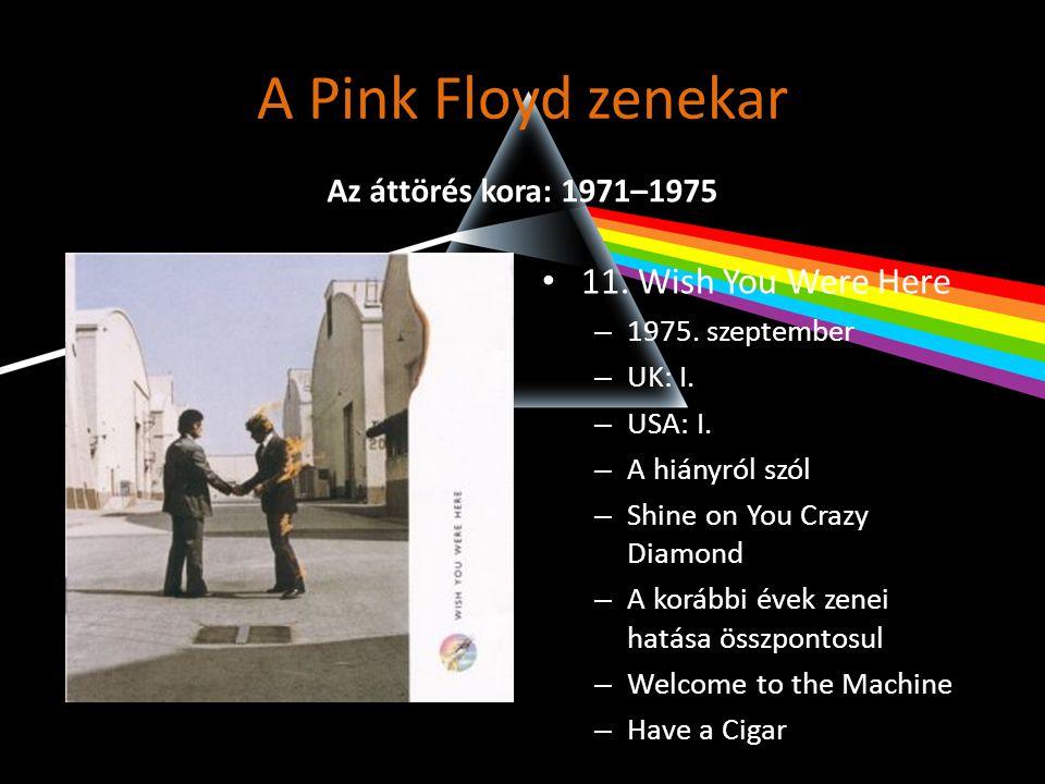 A Pink Floyd zenekar 11. Wish You Were Here Az áttörés kora: 1971–1975