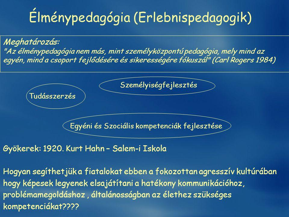 Élménypedagógia (Erlebnispedagogik)