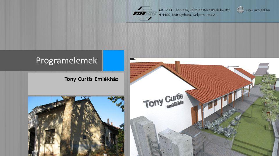 Programelemek Tony Curtis Emlékház