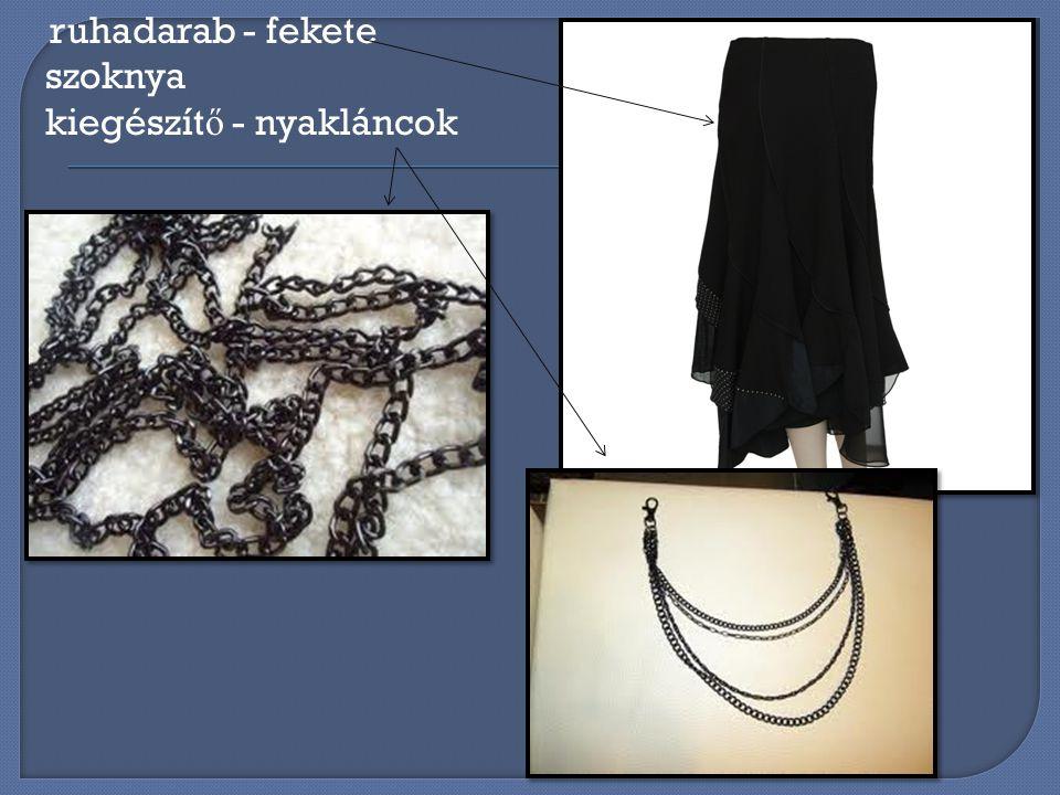 ruhadarab - fekete szoknya kiegészítő - nyakláncok