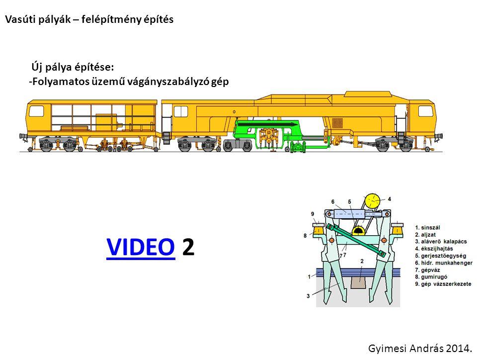 VIDEO 2 Vasúti pályák – felépítmény építés Új pálya építése: