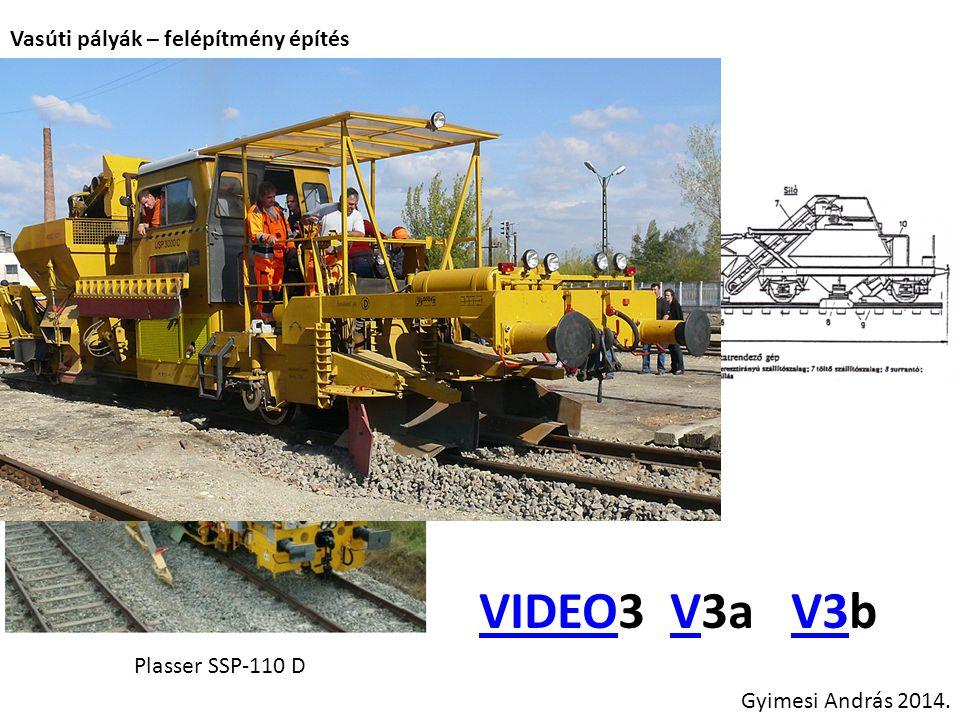 VIDEO3 V3a V3b Vasúti pályák – felépítmény építés Új pálya építése: