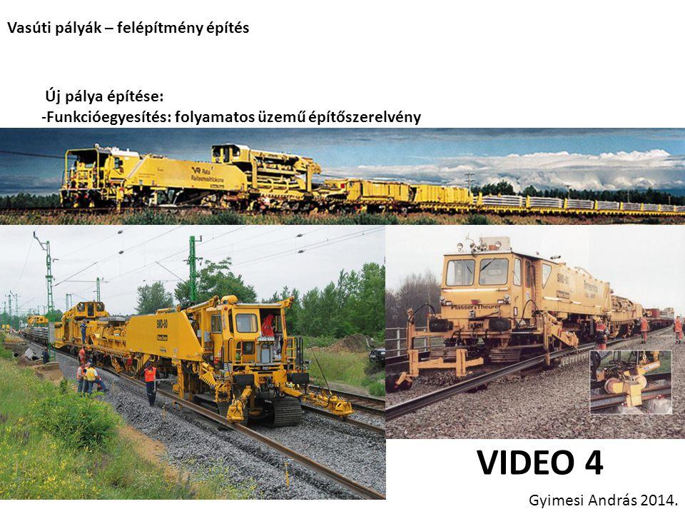 VIDEO 4 Vasúti pályák – felépítmény építés Új pálya építése: