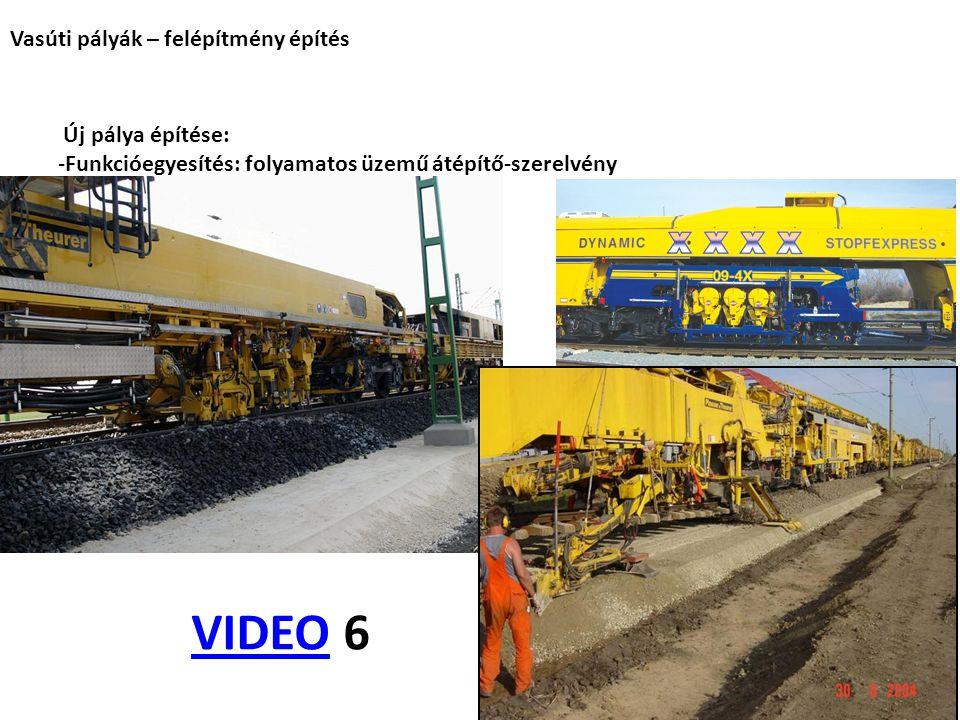 VIDEO 6 VIDEO Vasúti pályák – felépítmény építés Új pálya építése: