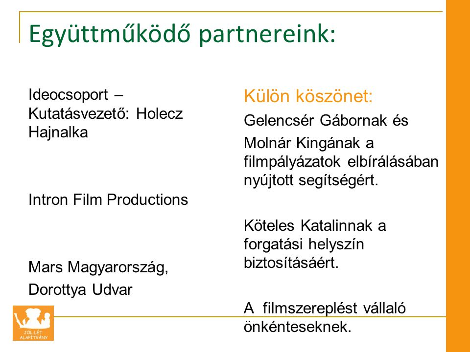 Együttműködő partnereink: