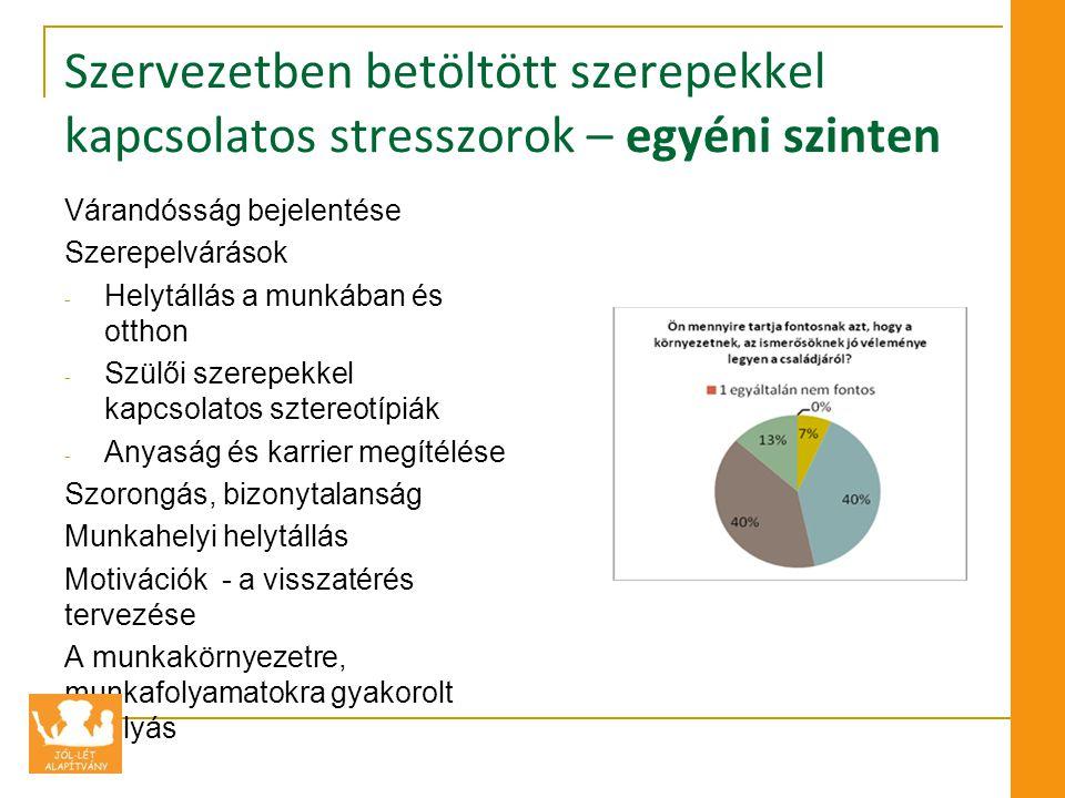 Szervezetben betöltött szerepekkel kapcsolatos stresszorok – egyéni szinten
