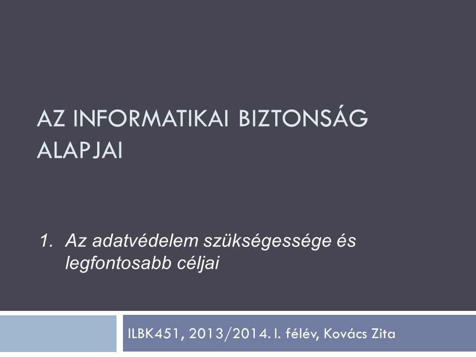 ILBK451, 2013/2014. I. félév, Kovács Zita
