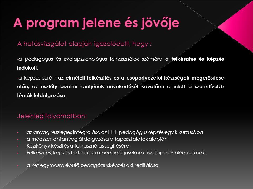 A program jelene és jövője