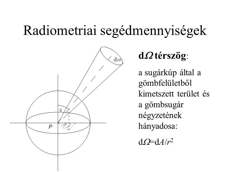 Radiometriai segédmennyiségek