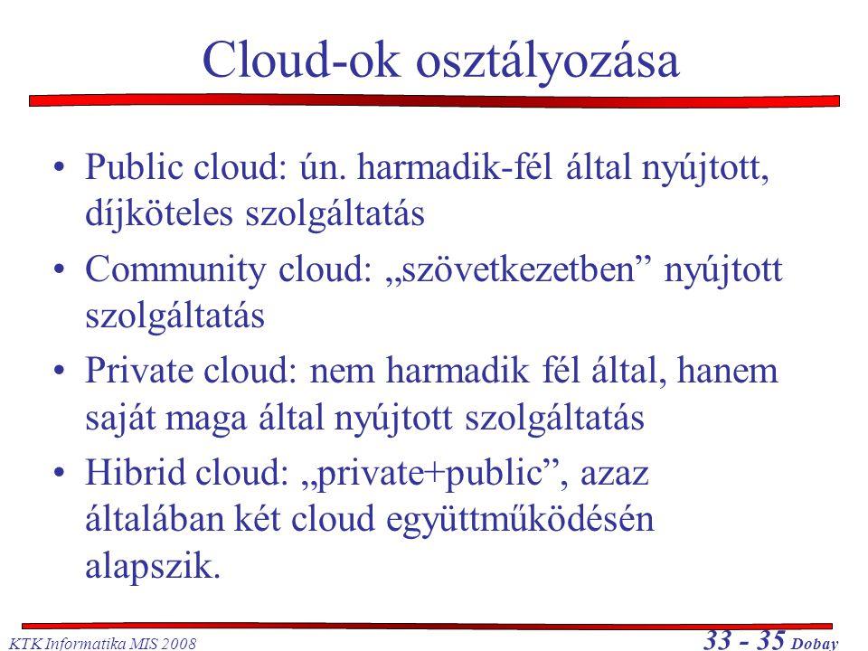 Cloud-ok osztályozása