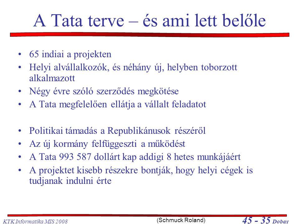 A Tata terve – és ami lett belőle