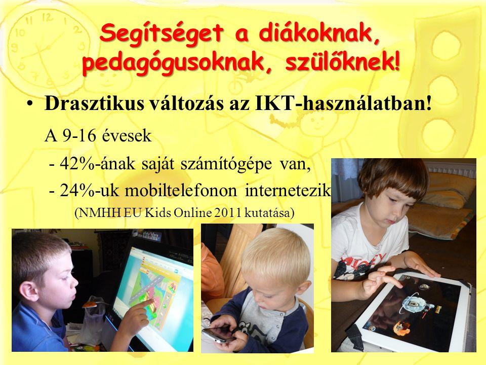 Segítséget a diákoknak, pedagógusoknak, szülőknek!