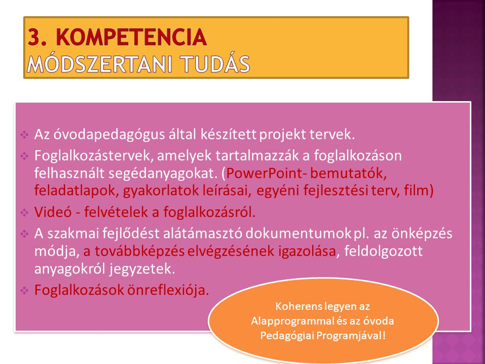 3. Kompetencia Módszertani tudás