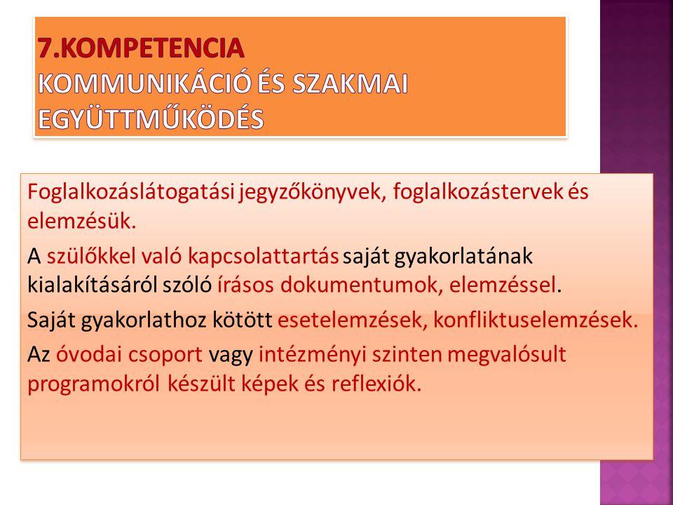 7.Kompetencia Kommunikáció és szakmai együttműködés