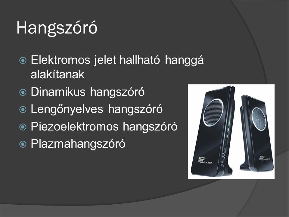 Hangszóró Elektromos jelet hallható hanggá alakítanak