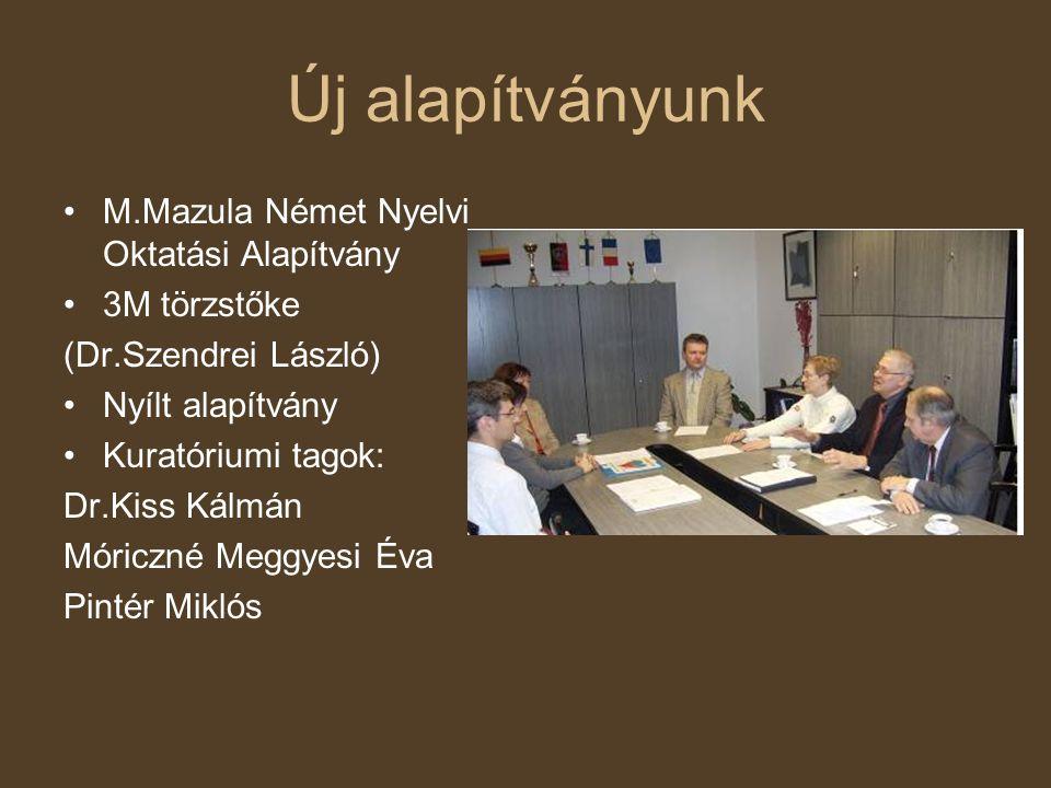 Új alapítványunk M.Mazula Német Nyelvi Oktatási Alapítvány