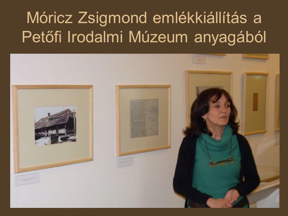Móricz Zsigmond emlékkiállítás a Petőfi Irodalmi Múzeum anyagából