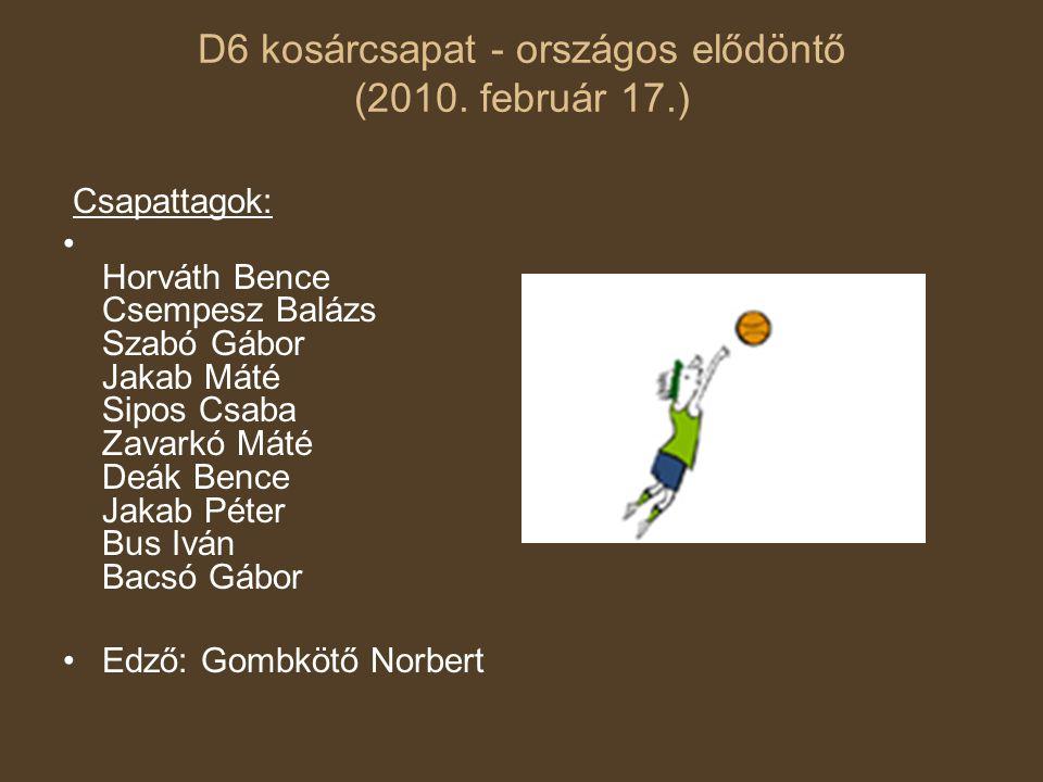 D6 kosárcsapat - országos elődöntő (2010. február 17.)