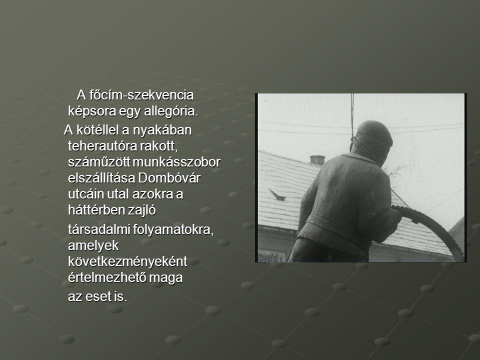 A főcím-szekvencia képsora egy allegória.