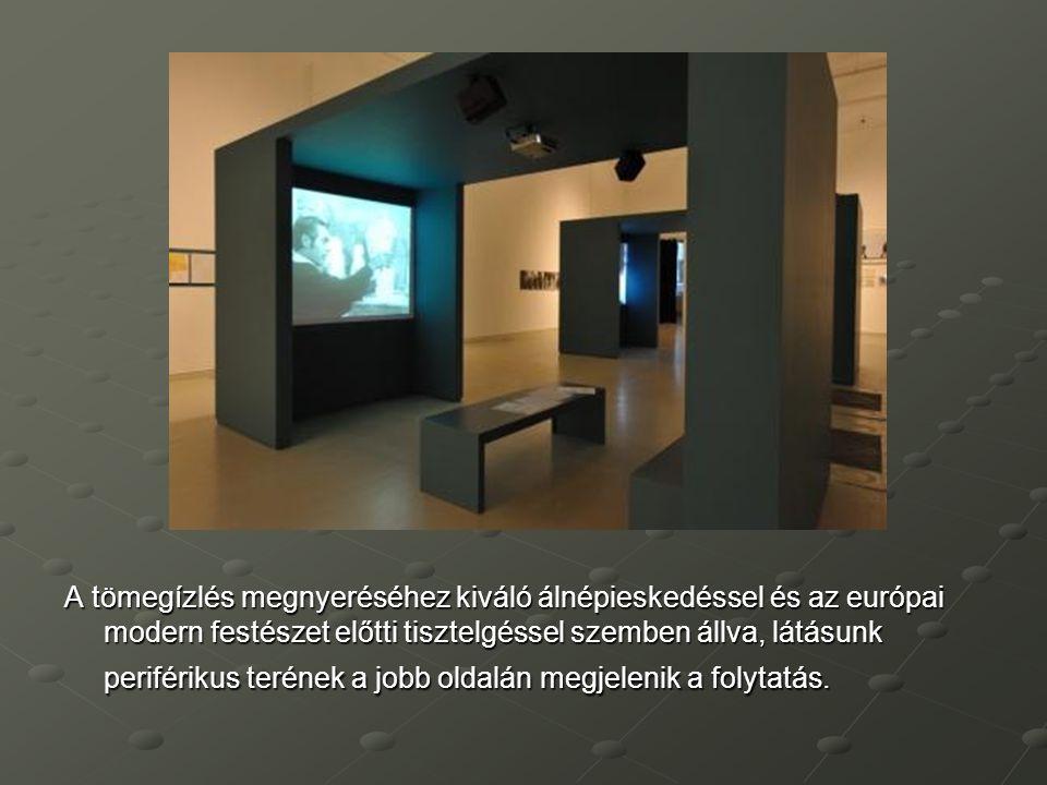A tömegízlés megnyeréséhez kiváló álnépieskedéssel és az európai modern festészet előtti tisztelgéssel szemben állva, látásunk periférikus terének a jobb oldalán megjelenik a folytatás.