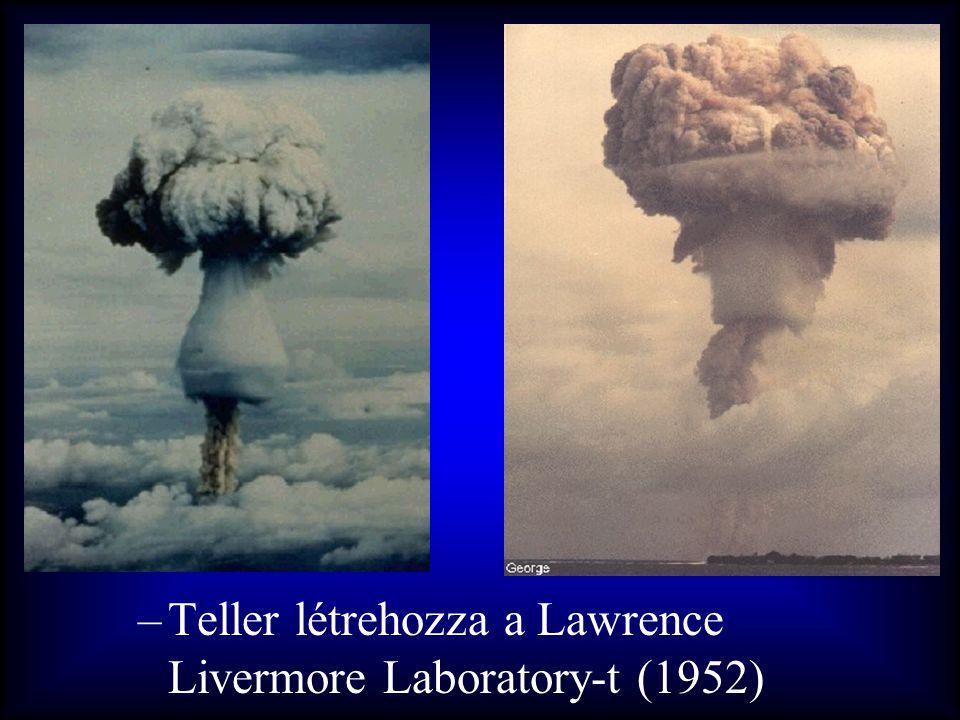 Teller létrehozza a Lawrence Livermore Laboratory-t (1952)
