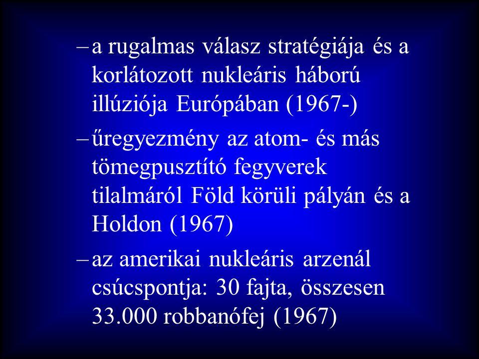 a rugalmas válasz stratégiája és a korlátozott nukleáris háború illúziója Európában (1967-)