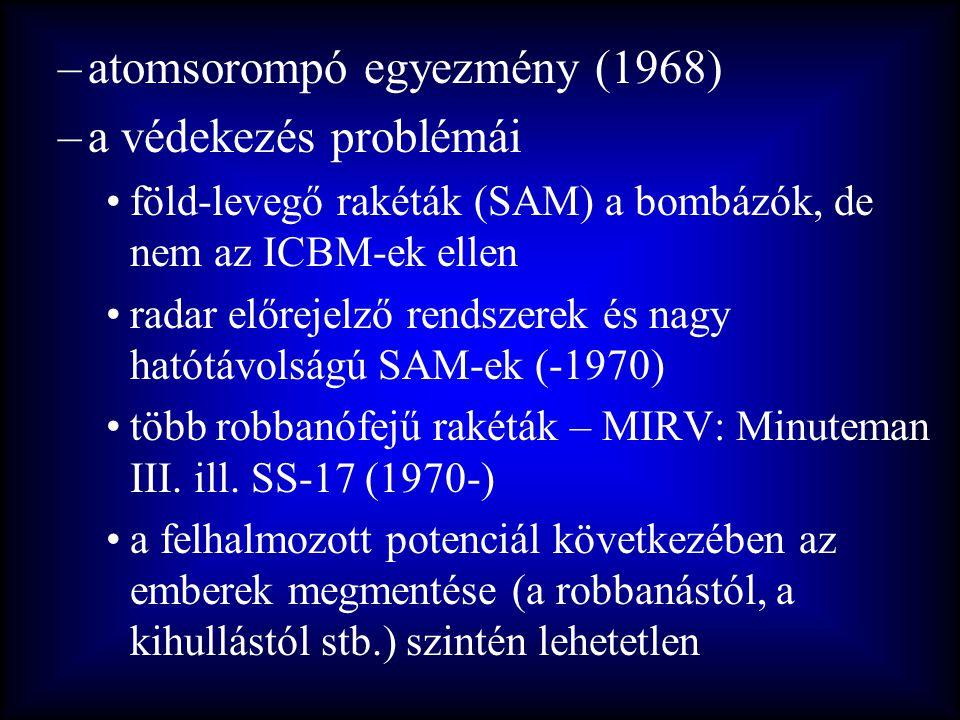 atomsorompó egyezmény (1968) a védekezés problémái