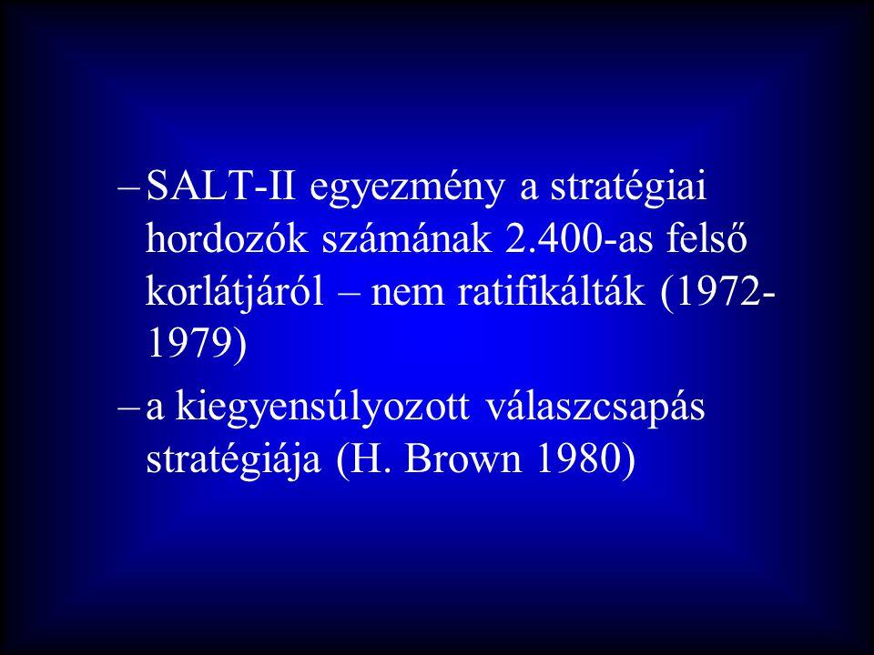 SALT-II egyezmény a stratégiai hordozók számának 2