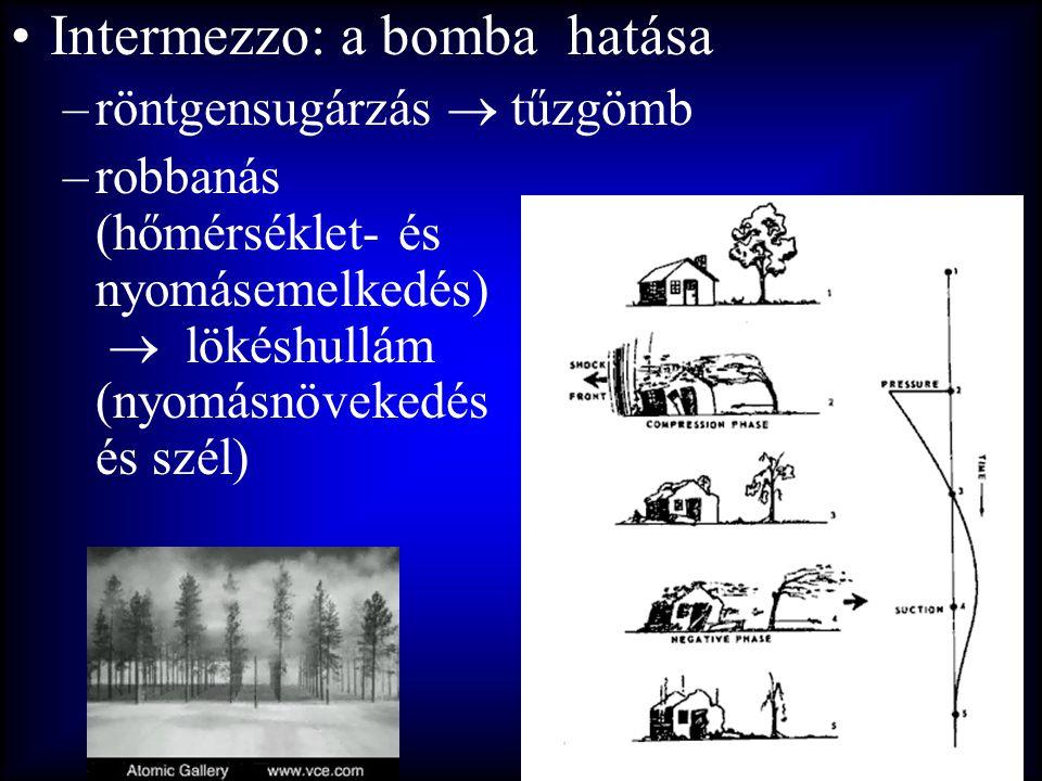 Intermezzo: a bomba hatása