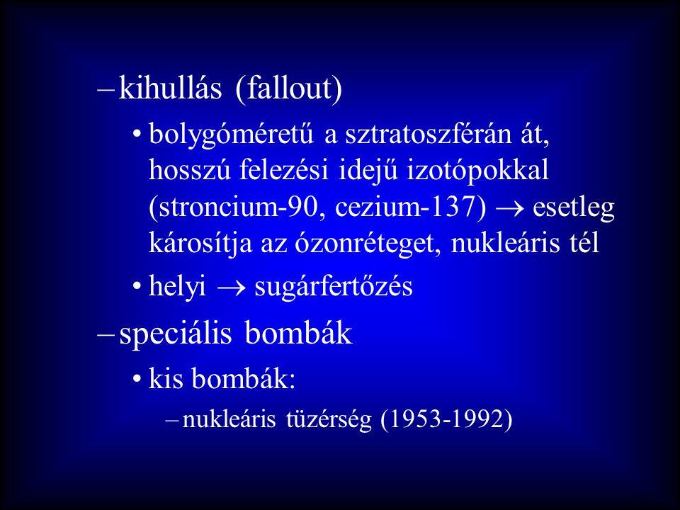 kihullás (fallout) speciális bombák