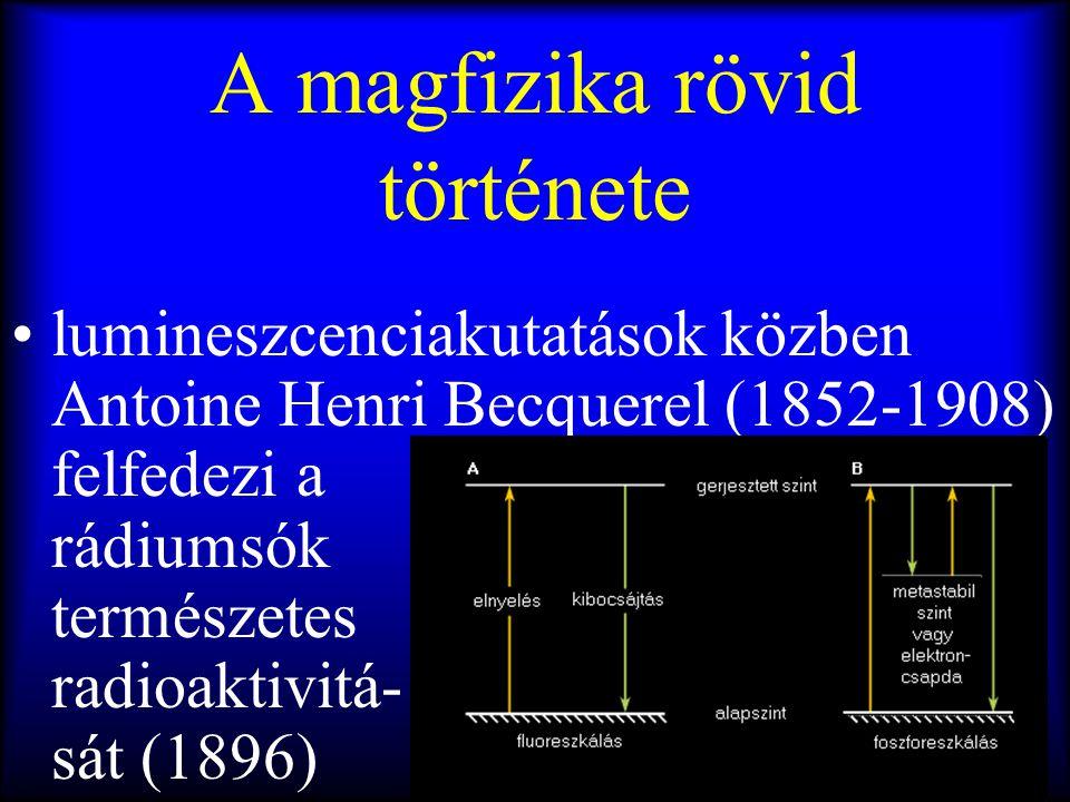 A magfizika rövid története
