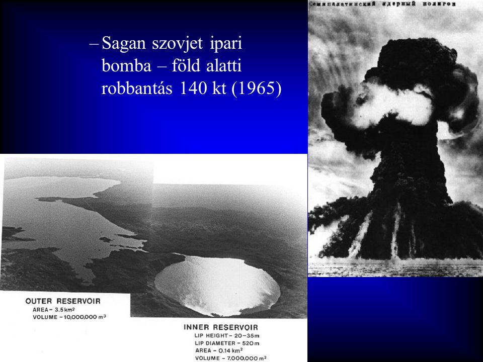 Sagan szovjet ipari bomba – föld alatti robbantás 140 kt (1965)