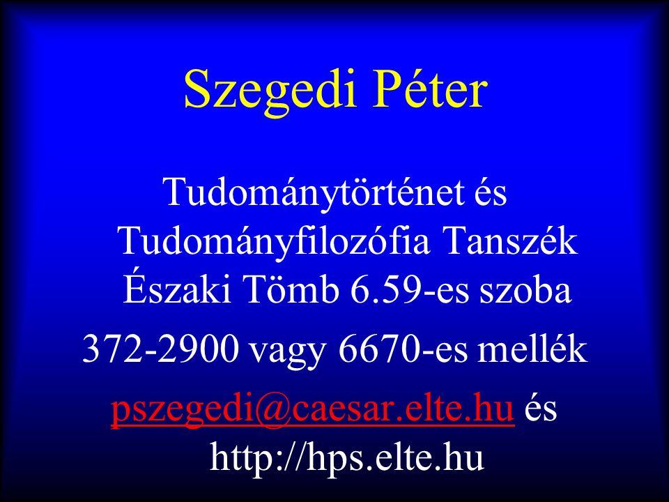 pszegedi@caesar.elte.hu és http://hps.elte.hu