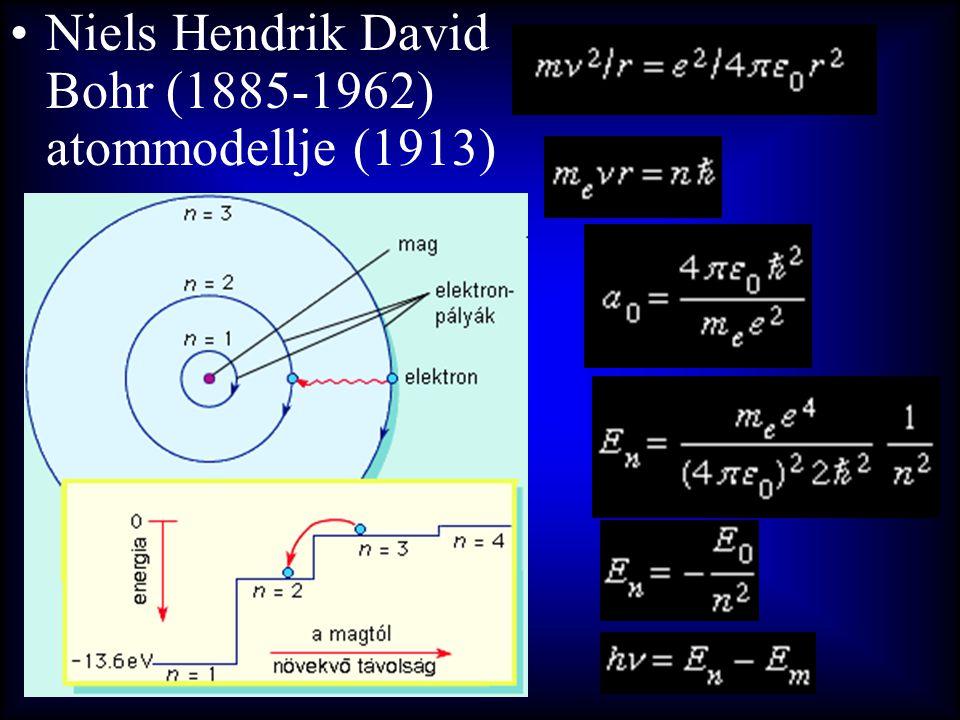 Niels Hendrik David Bohr (1885-1962) atommodellje (1913)