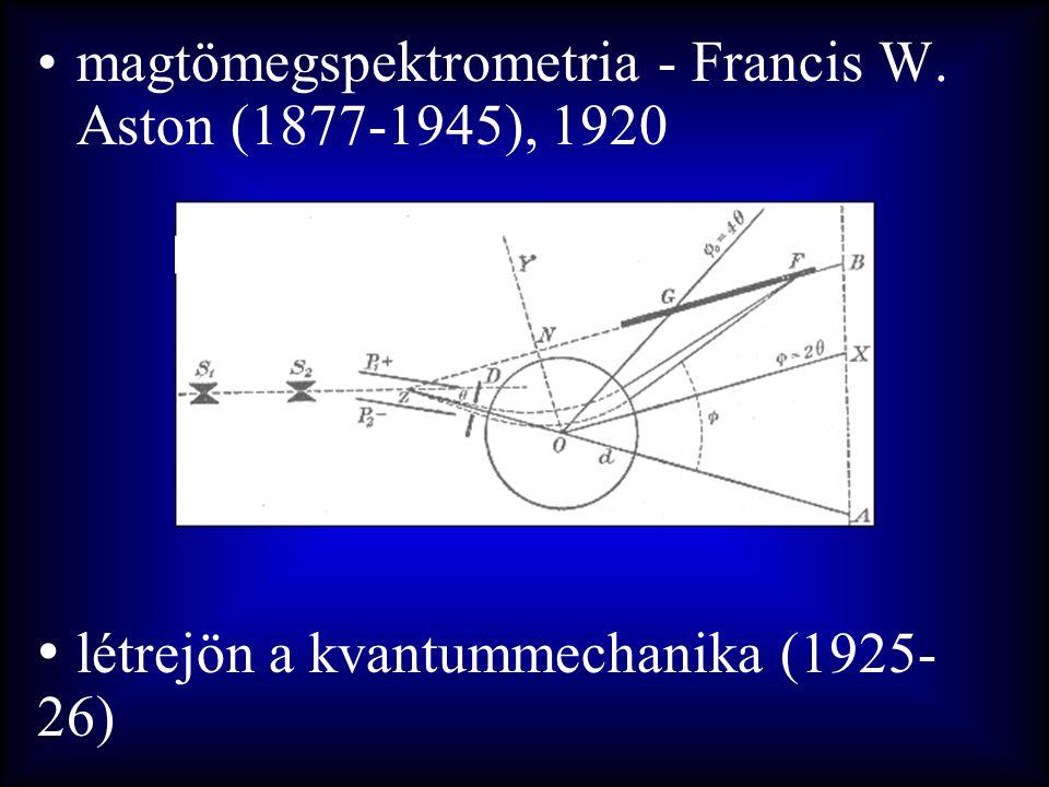 létrejön a kvantummechanika (1925-26)