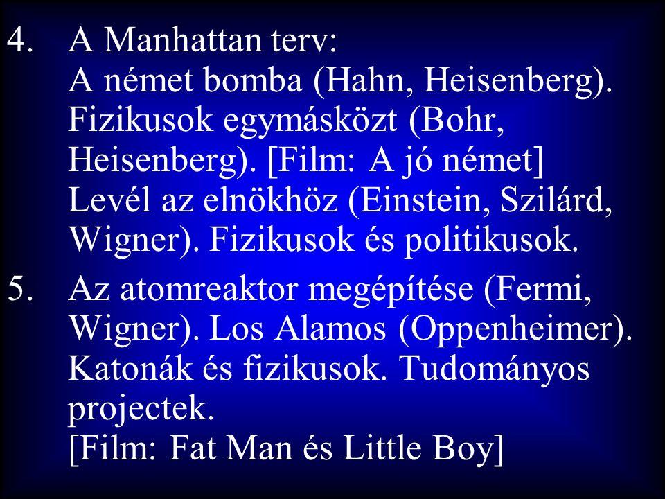 A Manhattan terv: A német bomba (Hahn, Heisenberg)