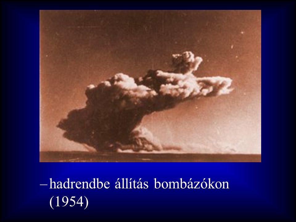 hadrendbe állítás bombázókon (1954)
