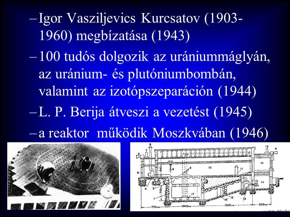 Igor Vasziljevics Kurcsatov (1903-1960) megbízatása (1943)