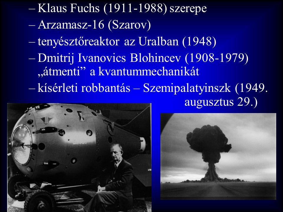 Klaus Fuchs (1911-1988) szerepe
