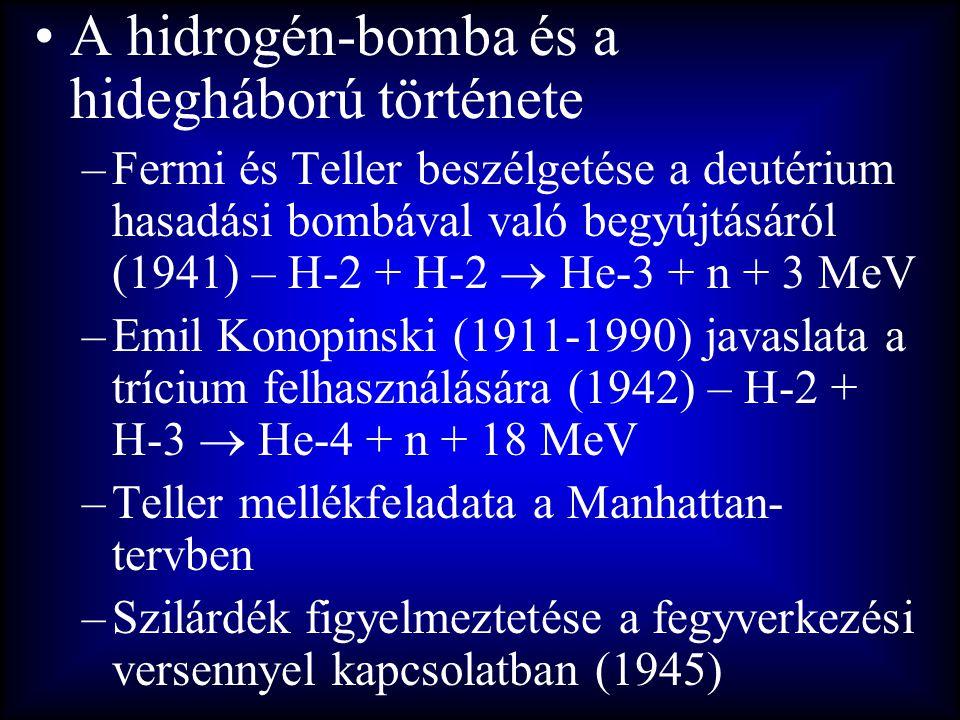 A hidrogén-bomba és a hidegháború története