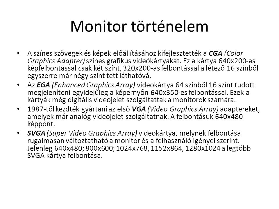 Monitor történelem