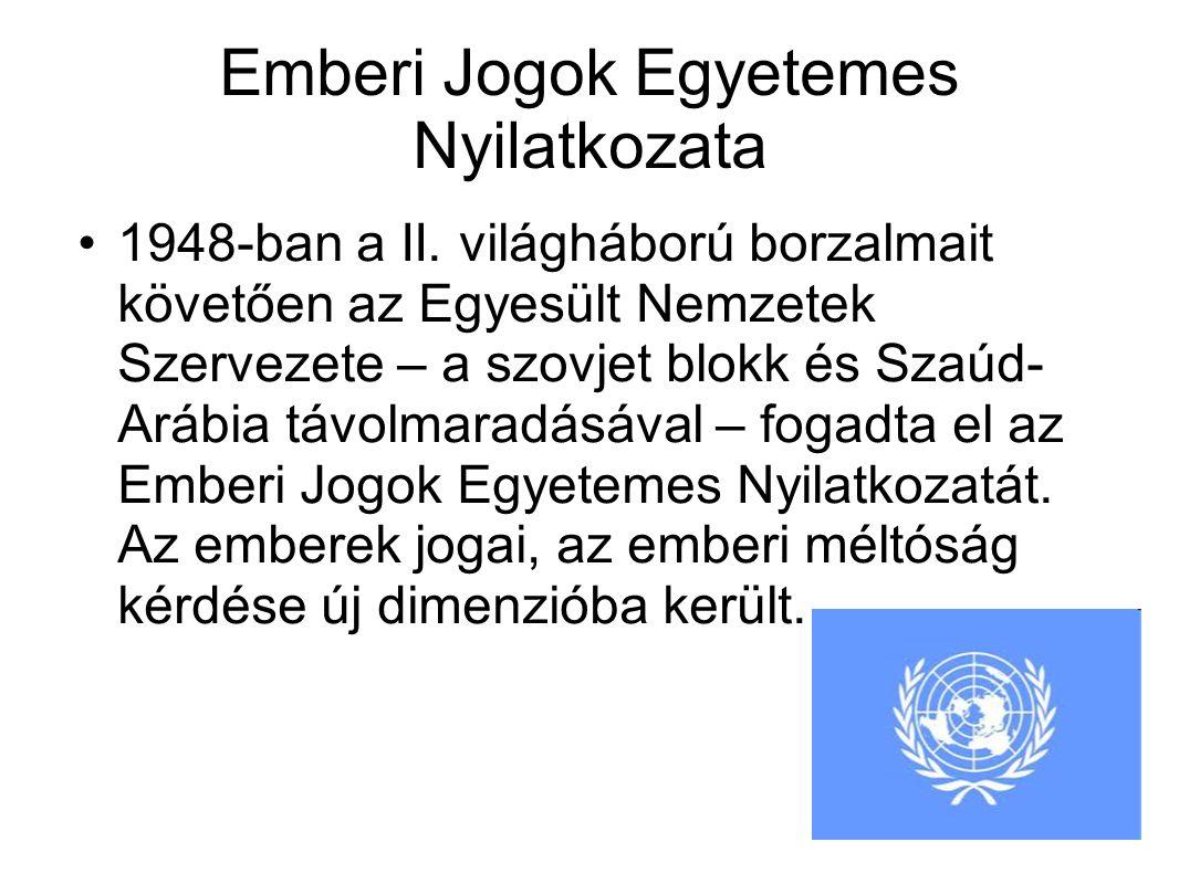 Emberi Jogok Egyetemes Nyilatkozata