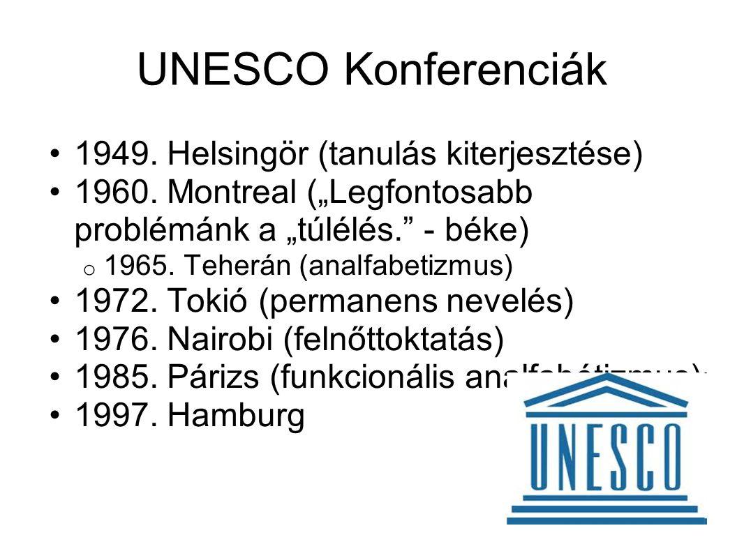 UNESCO Konferenciák 1949. Helsingör (tanulás kiterjesztése)