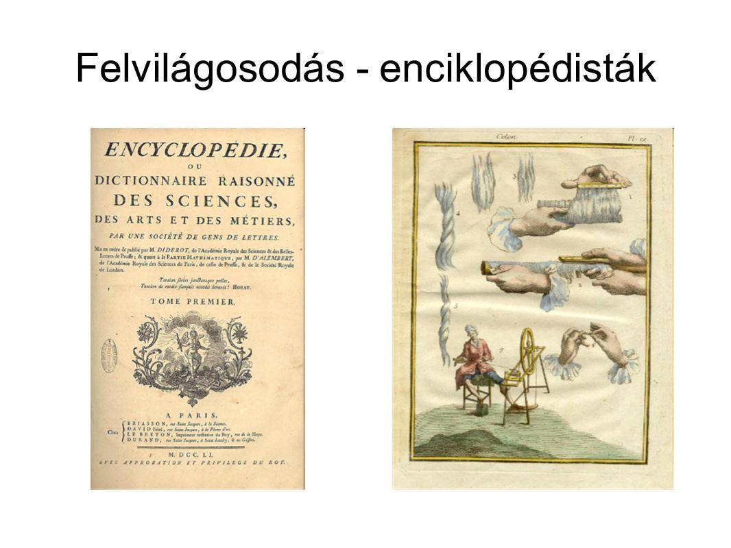 Felvilágosodás - enciklopédisták