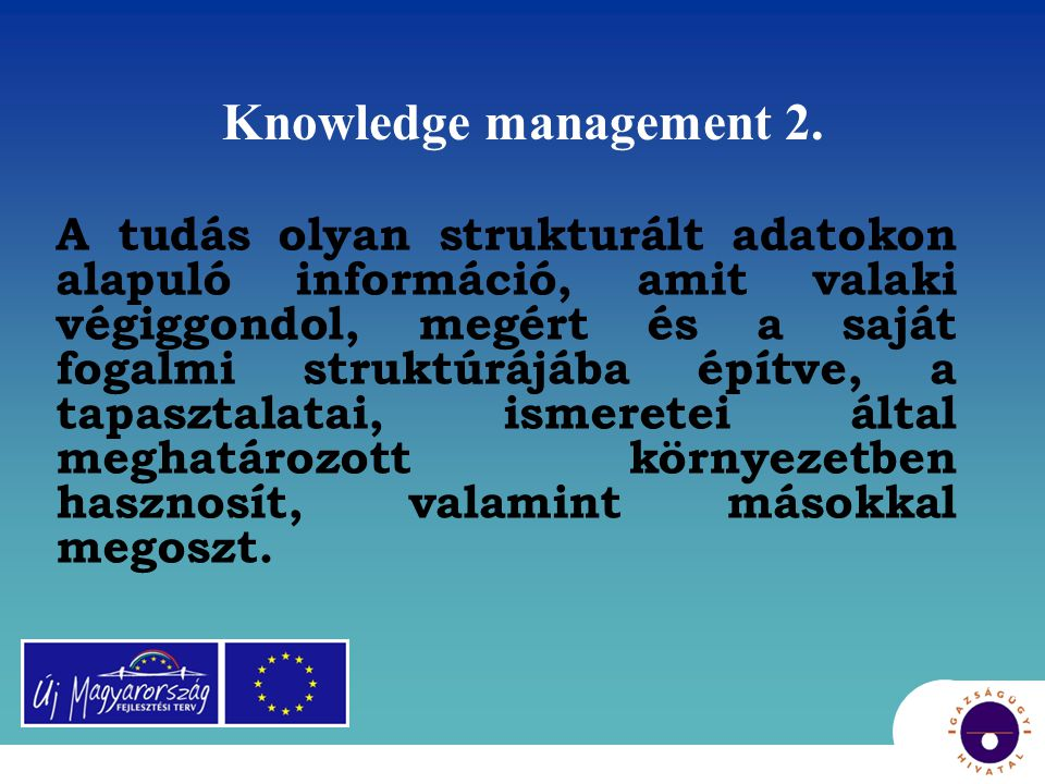 Knowledge management 2.