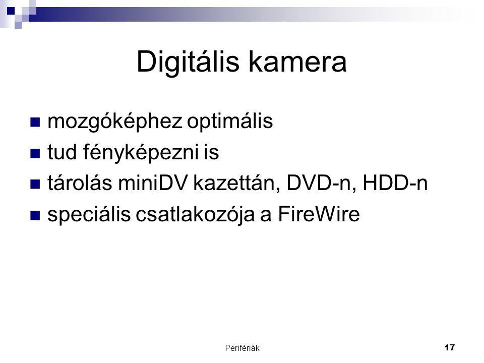 Digitális kamera mozgóképhez optimális tud fényképezni is