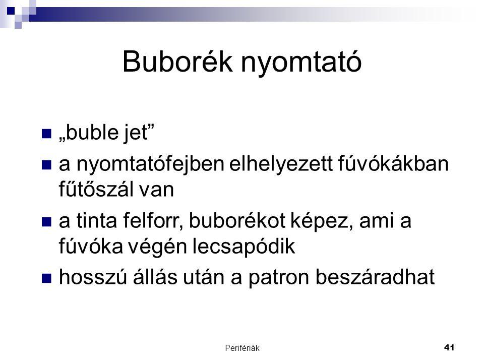 "Buborék nyomtató ""buble jet"