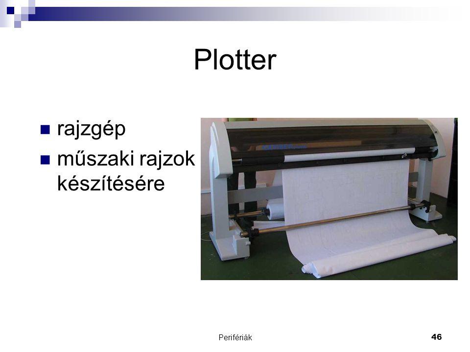 Plotter rajzgép műszaki rajzok készítésére Perifériák
