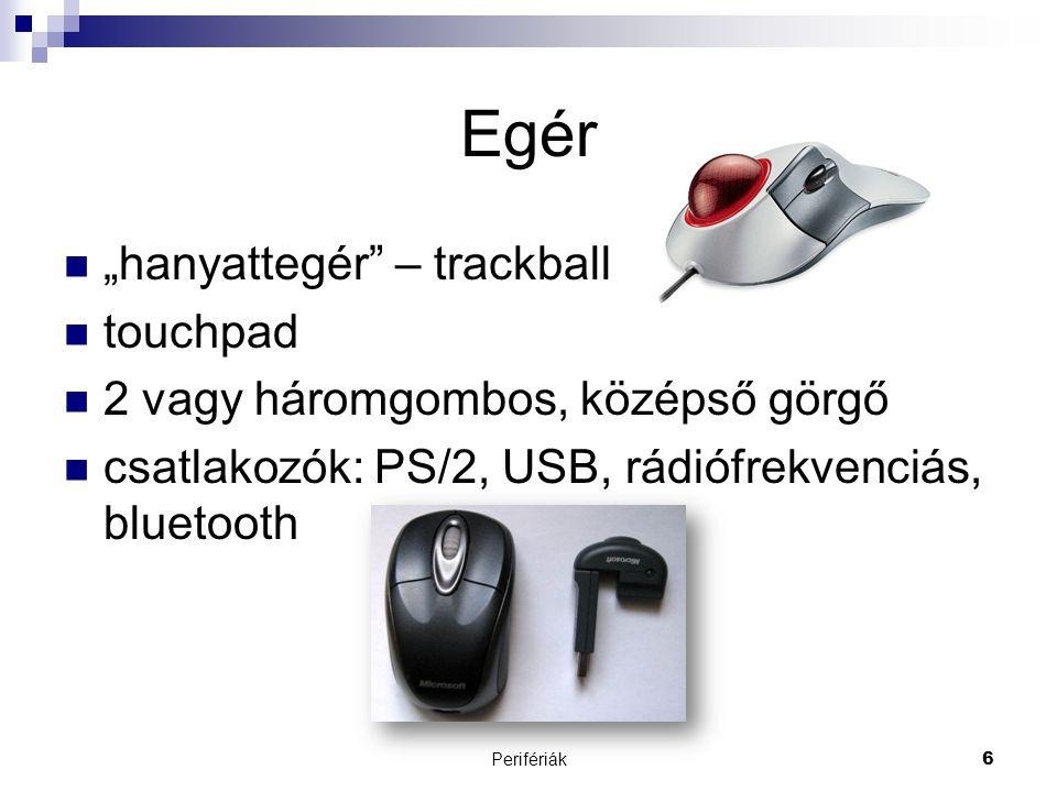 "Egér ""hanyattegér – trackball touchpad"