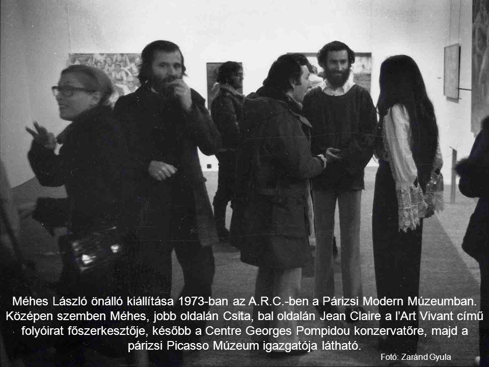 Méhes László önálló kiállítása 1973-ban az A. R. C